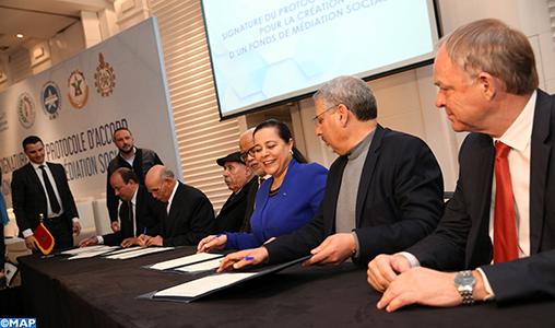 CGEM/Syndicats: Signature à Casablanca d'un protocole d'accord pour la création d'un fonds de médiation sociale