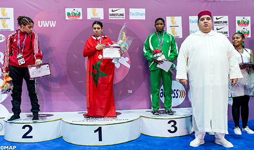Lutte: La Marocaine Ech-chabki (49kg) remporte le championnat d'Afrique et se qualifie aux JOJ de Buenos Aires 2018