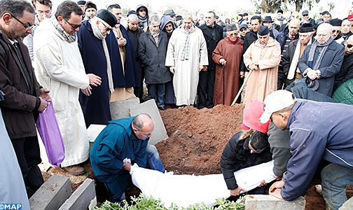 Funérailles à Rabat de l'ancien directeur général de la MAP, Abdeljalil Fenjiro