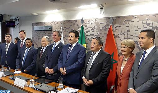 Intenses activités au Sénat brésilien d'une délégation du Groupe d'amitié parlementaire Maroc-Brésil à la chambre des Conseillers