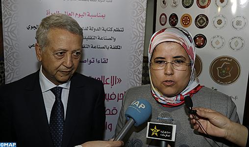 Les femmes représentent 54% des membres des coopératives engagées dans l'artisanat (El Moussali)