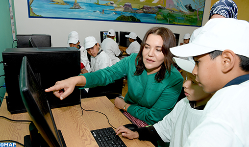 "SAR la Princesse Lalla Hasnaa visite l'éco-école ""Al Masjid"" à Ain Aouda"