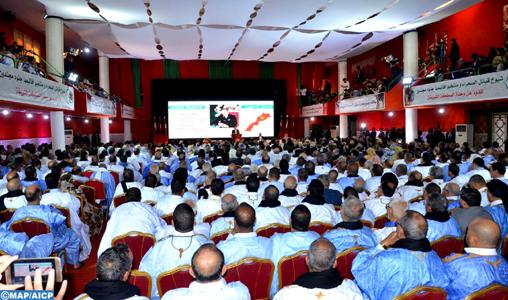 Déclaration de Laâyoune : Les leaders des partis politiques, les parlementaires, les élus, les chioukhs, les notables et les cadres sahraouis condamnent les manœuvres du polisario