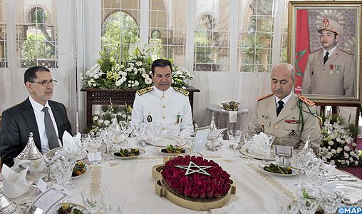 Anniversaire de la création des FAR : SAR le Prince Moulay Rachid préside un déjeuner offert par SM le Roi