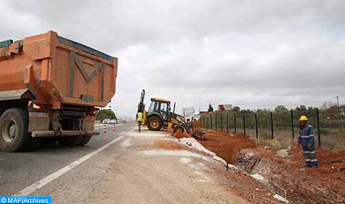 Interruption temporaire de la circulation sur la route régionale n° 413 reliant Sidi Kacem et Meknès (Communiqué)