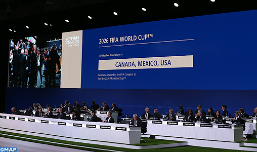 L'organisation de la coupe du monde 2026 de football attribuée au trio USA-Canada-Mexique