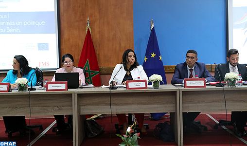 """Participation politique des femmes: Lancement à Rabat du projet """"Engageons-nous pour plus de femmes en politique au Maroc et au Bénin"""""""