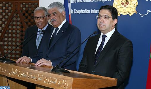Texte intégral de la déclaration conjointe publiée au terme de la rencontre entre M. Bourita et son homologue de la République dominicaine