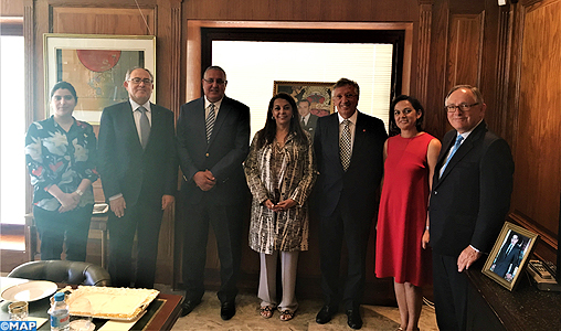 Mme Benyaich se réunit à Madrid avec les membres du directoire du Conseil Economique Maroc-Espagne