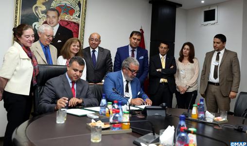 Signature à Rabat d'un mémorandum d'entente entre la MAP et le Holding Marita Group relatif au développement du projet d'International Media City