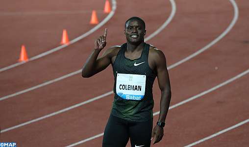 11è Meeting international Mohammed VI d'athlétisme (100m): L'Américain Coleman sacré