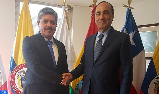 Entretiens à Bogota de M. El Malki avec des responsables du Parlement andin