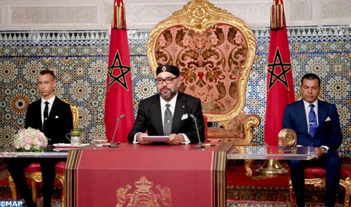 Discours de SM le Roi à la Nation à l'occasion du 65ème anniversaire de la Révolution du Roi et du Peuple (texte intégral)