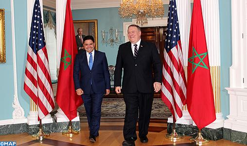 MM. Bourita et Pompeo conviennent de la tenue du dialogue stratégique Maroc-Etats Unis l'année prochaine à Washington
