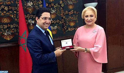 Entretien de M. Nasser Bourita avec la Première ministre de la Roumanie