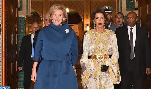 SAR La Princesse Lalla Meryem préside un diner offert par SM le Roi en l'honneur de la Princesse Astrid de Belgique