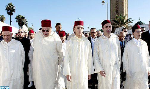 Obsèques à Rabat du poète Ali Skalli Hussaini en présence de SAR le Prince héritier Moulay El Hassan