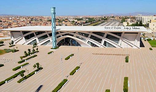 """La nouvelle gare d'Oujda, une concrétisation du grand projet urbain """"Urba Pôle"""""""