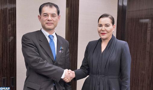 SAR la Princesse Lalla Hasnaa reçoit à Tokyo le ministre japonais de l'Éducation, de la Culture, des Sports, des Sciences et de la Technologie