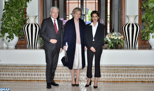 SAR la Princesse Lalla Meryem reçoit la Princesse Astrid, représentante de SM le Roi des belges