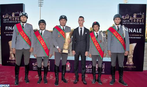 SAR Le Prince Héritier Moulay El Hassan préside à Rabat la finale de la 6ème édition de la Coupe du Trône des clubs de saut d'obstacles