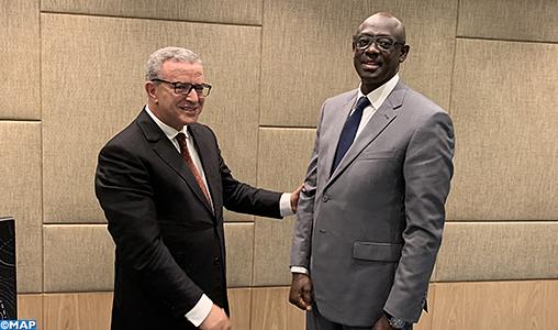 M. Aujjar s'entretient  à Kigali avec son homologue rwandais
