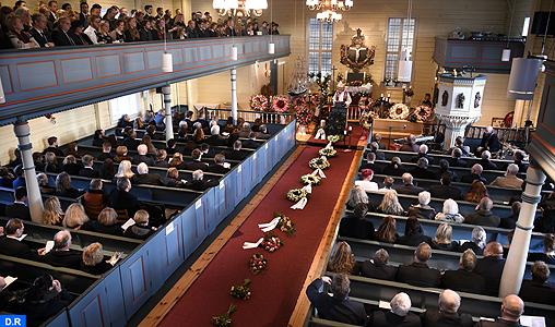 Funérailles en Norvège de Maren Ueland, l'une des victimes du double homicide d'Imlil