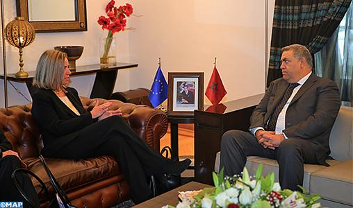 M. Laftit s'entretient à Rabat avecFederica Mogherini