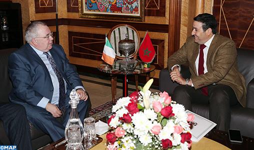 Le président de la Chambre des députés irlandaise appelle au renforcement de la coopération économique et commerciale entre l'Irlande et le Maroc