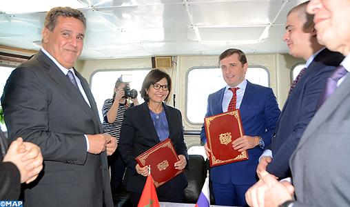 M. Akhannouch s'entretient avec le vice-ministre russe de l'Agriculture et président de l'Agence Fédérale Russe des Pêches