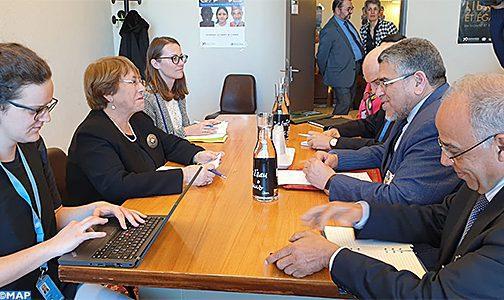40ème session du CDH: M. Ramid s'entretient à Genève avec la Haute Commissaire aux droits de l'homme
