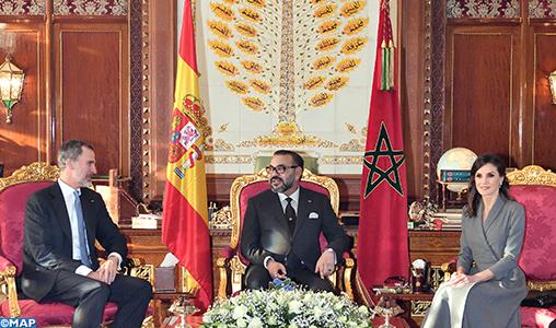 SM le Roi Mohammed VI s'entretient avec SM le Roi Don Felipe VI d'Espagne