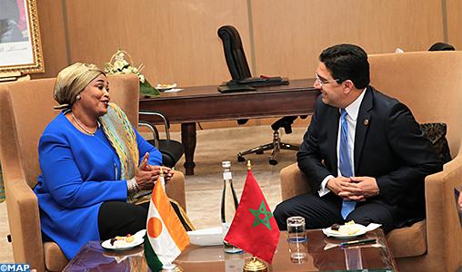 La ministre nigérienne de l'Intégration africaine félicite le Maroc pour la réussite de la Conférence sur l'appui de l'UA au processus politique de l'ONU sur le différend autour du Sahara marocain