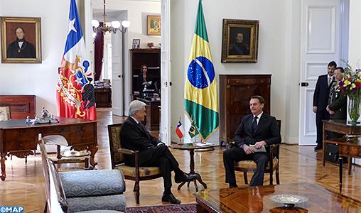 Le Chili et le Brésil signent à Santiago une série d'accords bilatéraux et s'accordent sur la nécessité d'établir un accord de libre-échange