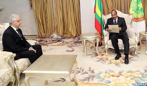 M. Nizar Baraka remet un message écrit de SM le Roi au Président mauritanien