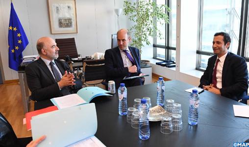 Les efforts du Maroc en matière de gouvernance fiscale au centre d'entretiens à Bruxelles entre M. Benchaaboun et le Commissaire européen aux Affaires économiques