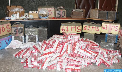 Avortement d'une opération de trafic de stupéfiants au sud-est de M'Diq, trois individus arrêtés