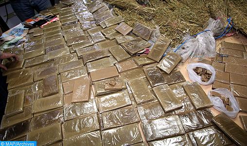 Nador : Mise en échec d'une tentative de trafic international de drogue et saisie de 12,8 tonnes de chira