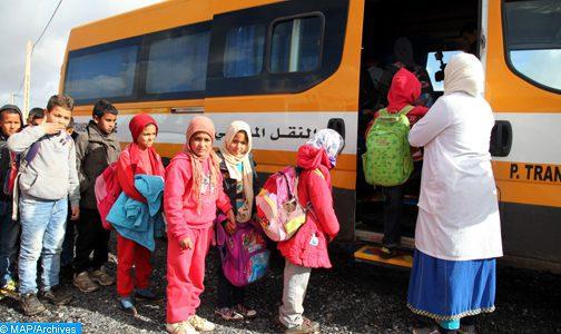 INDH : Le transport scolaire, cheville-ouvrière de la promotion de la scolarisation en milieu rural à Al-Haouz .