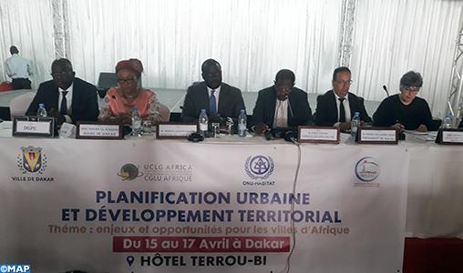 Le président de la Fédération des Agences Urbaines du Maroc plaide à Dakar pour la création d'un cadre de convergence et de coopération stratégique entre les villes africaines
