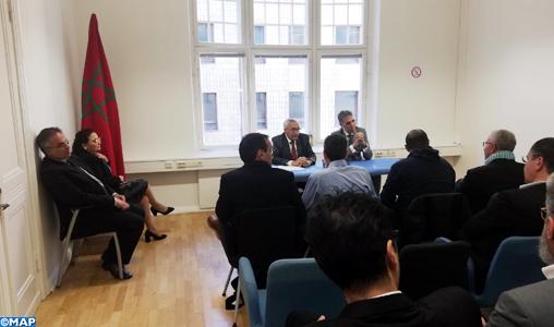 M. El Ktiri tient une rencontre avec des acteurs associatifs en Finlande