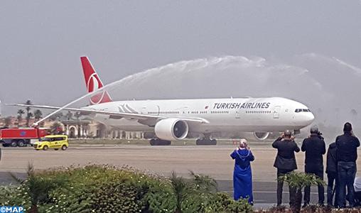 """Inauguration officielle de la ligne directe Istanbul-Marrakech de la """"Turkish Airlines"""""""