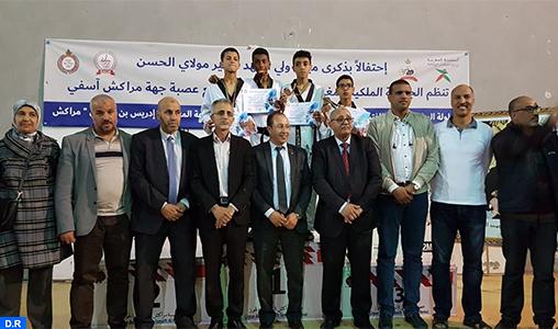 """Championnat national de taekwondo individuel: L'association """"Soukour Aourir"""" d'Agadir (cadets) et le centre """"Attafaouk"""" de Casablanca (cadettes) remportent le titre"""