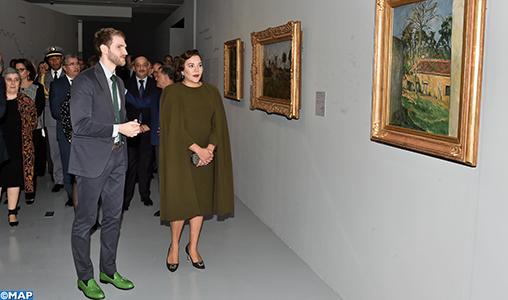 """SAR la Princesse Lalla Hasnaa préside à Rabat l'inauguration de l'exposition """"Les couleurs de l'impressionnisme: chefs d'oeuvre des collections du Musée d'Orsay"""""""
