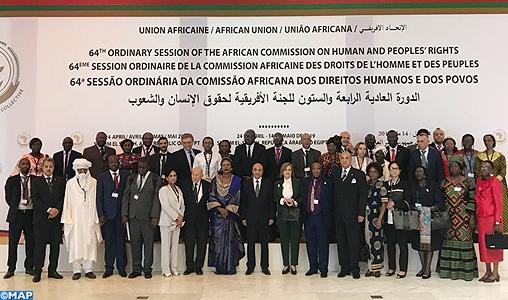 Ouverture à Charm el-Cheikh de la 64é session ordinaire de la Commission africaine des droits de l'Homme et des peuples avec la participation du Maroc