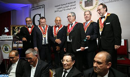 """Casablanca: D'éminentes personnalités deviennent """"Compagnons de Gutenberg"""""""