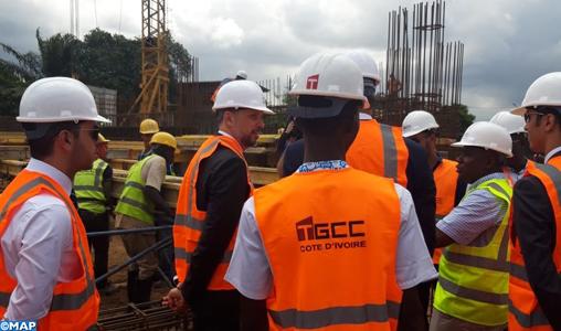 """Abidjan : M. Jazouli visite le chantier de la mosquée """"Mohammed VI"""""""