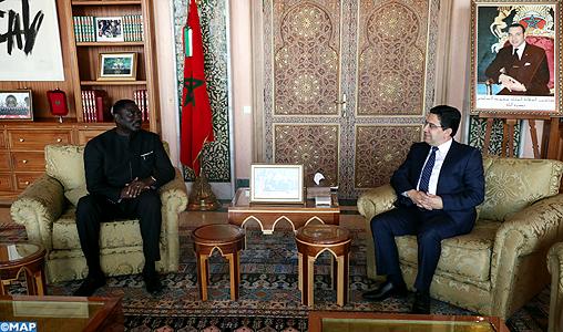 M. Bourita reçoit son homologue gambien, porteur d'un message à SM le Roi