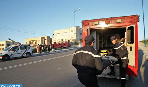 Tanger: Trois morts dans un accident impliquant deux véhicules de transport de personnel