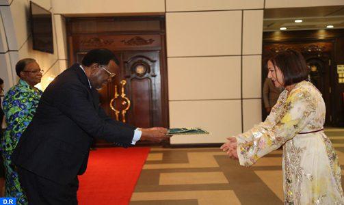L'ambassadeur du Maroc en Namibie remet ses lettres de créance au Président Geingob